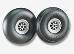 Du-Bro Low Bounce Wheels 2 1/2 Inch Smooth Contour - Product Image