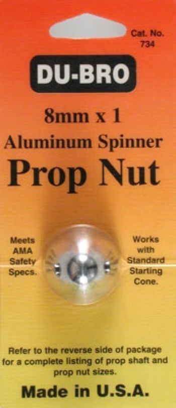 Dubro 8mm x 1 Spinner Nut - Product Image