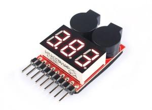 Ev-Peak Vista Power 8S 2 in 1 Voltage Meter & Lipo Alarm - Product Image