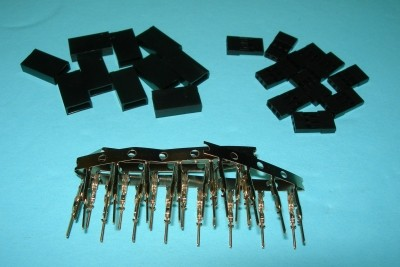 Female Radio Connector Pins, Shells, & Housings Kit JR/Hitec/Airtronics Z(new) - Product Image