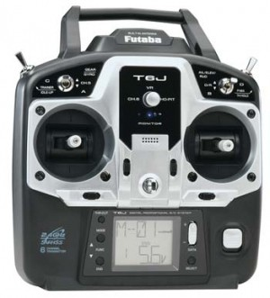 Futaba 6J 2.4ghz Computer Radio with 4xS3004 Servos - Product Image
