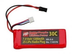 HP 1300mah 7.4V 2S - Product Image