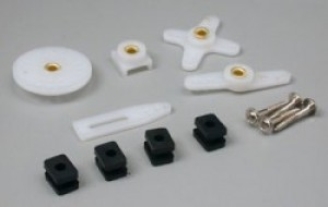 Hitec Regular Servo Horn and Hardware Set - Product Image