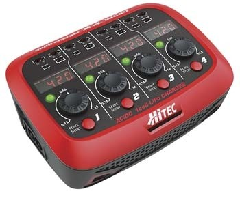 Hitec X4 Micro AC/DC 1 Cell LiPo Charger - Product Image