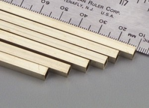 K & S 3/16 x 12 Inch Square Brass Tubing - Product Image