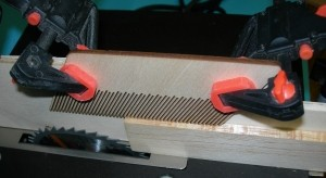 """Large Width Micro Table Saw Feather Board 1/4"""" - Product Image"""
