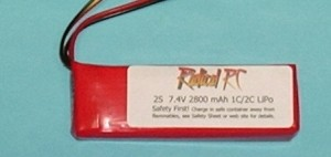 Lipo 2800mAh Transmitter Pack 7.4V - Product Image
