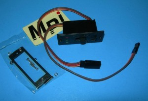 MPI Onboard Switch Harness Heavy Duty 3-LED Voltage Monitor for JR/Spektrum/Universal - Product Image