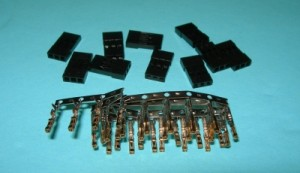 Male Radio Connector Pins & Shells Kit JR/Hitec/Airtronics Z(new) - Product Image