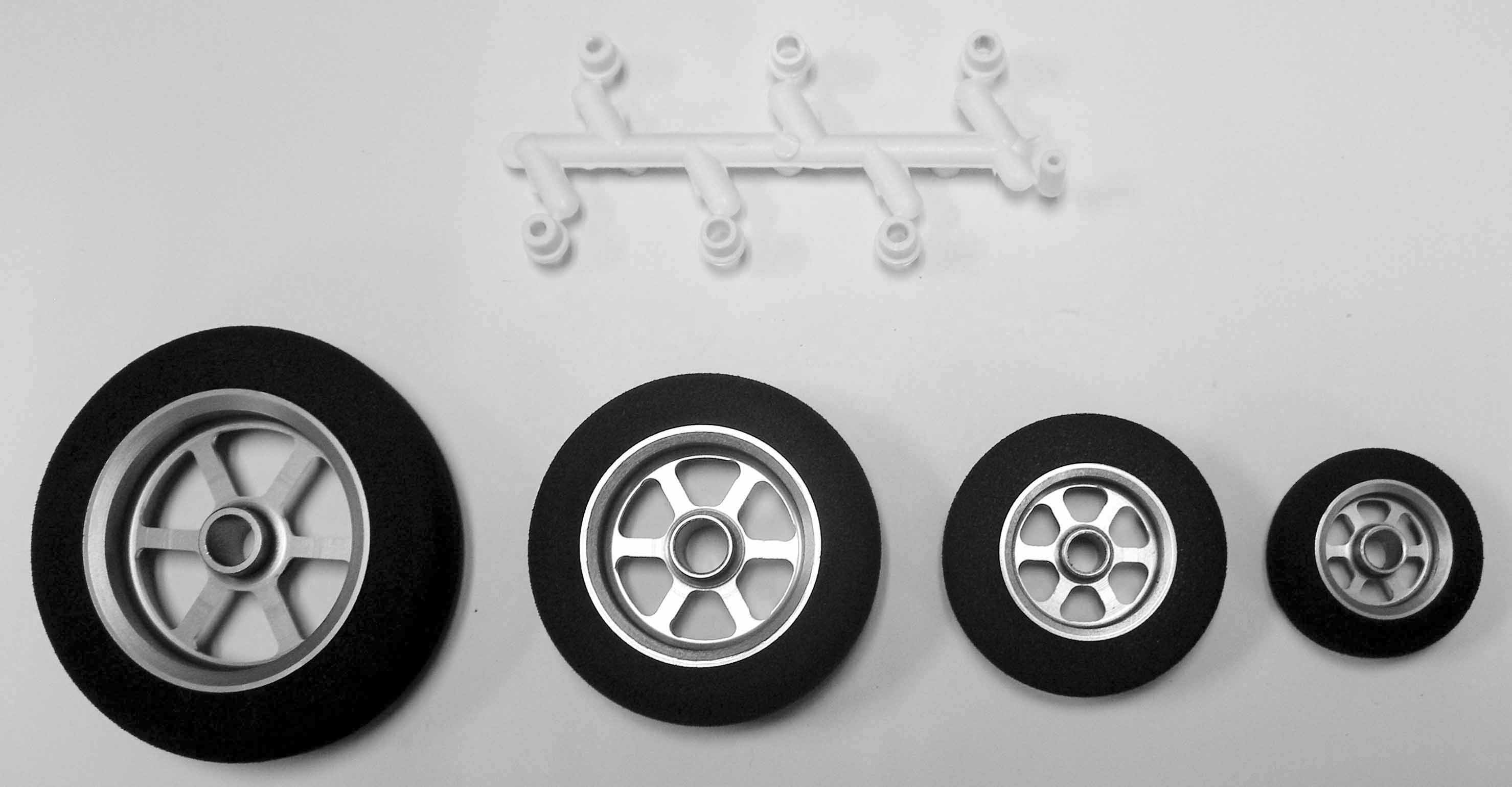 "Maxx Products 2"" Lite Weight Aluminum Spoked Wheel Pair  - Product Image"