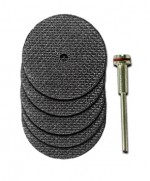 Moto Tool 1/8 Inch Arbor with 1.5 Inch Cut Off Disks - Product Image