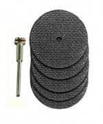 Moto Tool 1/8 Inch Arbor with 2 Inch cut off Disks - Product Image