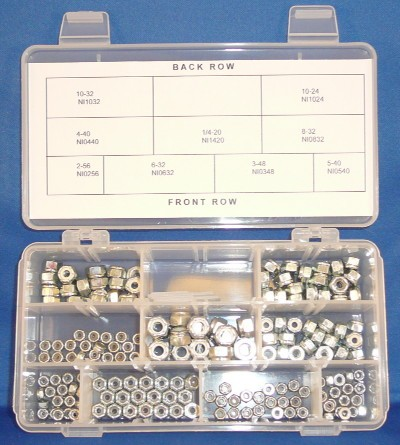 Nylon Insert Lock Nuts SAE 181 Piece Set - Product Image