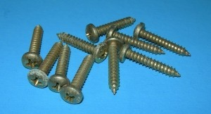 "Phillips Head Sheet Metal Screws #10 x 1""  100 Pack - Product Image"