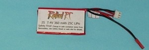 RRC 7.4V 2S 360mAh 25C - LAST ONE LEFT - HALF OFF! - Product Image