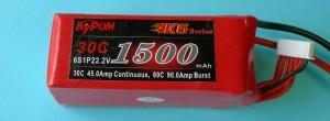 RRC K6 22.2V 6S 1500mAh 30C ~LAST ONES LEFT, HALF OFF! - Product Image