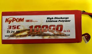 RRC K6 Series 10,000mAh 22.2V 6S - Product Image