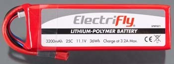 Electri-Fly 25C 3S 11.1v 3200 - Product Image