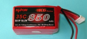 RRC K6 Series 18.5V 5S 850mAh 35C  ~LAST ONES LEFT, HALF OFF! - Product Image