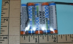FDK/Sanyo 1000mAh 5-AAA Cell 6V NIMH RX Flat Pack - Product Image