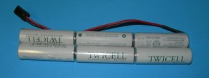 FDK/Sanyo Twicell 2000mah NiMH 7.2V 2x3 Double Stick Airtronics/Multiplex TX Pack - Product Image