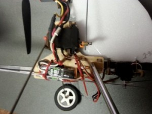 Radical RC Auto Gyro Crutch - Gear and Servo Mount - Product Image