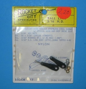 Rocket City 2-56 Ball Link for 4040 threaded Rod HD TIG - Product Image