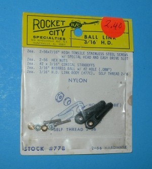 Rocket City 2-56 Ball Link for 4-40 pushrod Rod HD TIG - Product Image