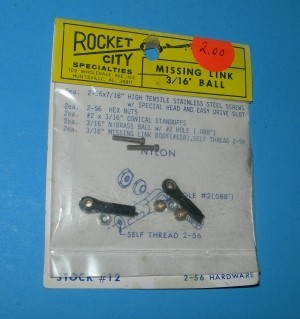 Rocket City 2-56 Threaded Ball Link for 2-56 Rod  TIG - Product Image