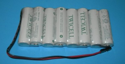 FDK/Sanyo Twicell 2000mah NiMH AA 8-Cell 9.6V Tx Flat Pack - Product Image