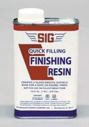 Sig Quick Filling Polyester Finishing Resin 16oz/1 Pint - Product Image