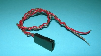 Single End 2 Wire Battery Female 26 Gauge Twisted JR/Hitec/Airtronics Z(new) Style - Product Image