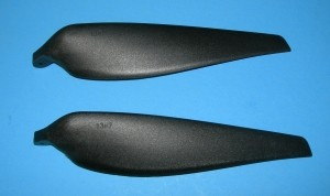 Sonic Modell Folding Prop Blade set 13-7, 6mm Yoke - Product Image