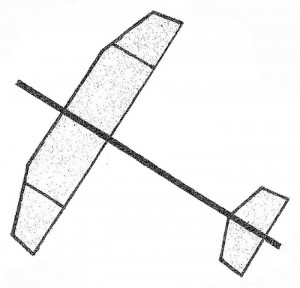 "Straight-Up Catapult Glider 16"" - Product Image"