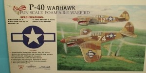 Sure Flite P-40 Warhawk Kit - Product Image