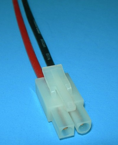 2 Pole/Wire Silicone Pigtail Male Tamiya Kyosho  - Product Image